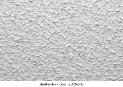 White acoustic popcorn ceiling texture