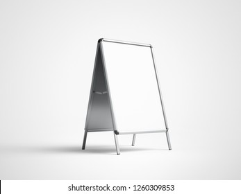 White Advertising A Stand