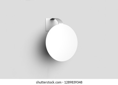White Advertising Wobbler Mock up isolated on white background.High resolution photo.