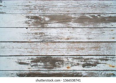 White aged wood texture background