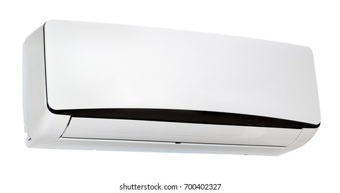 White air condition isolated on white background