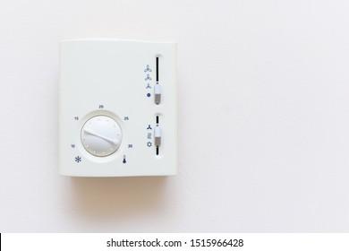 White air conditioner remote control for fan and temperature