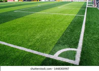 white  angle the cornor of football filed