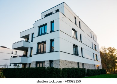 white apartment building with modern architecture
