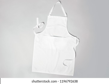 White apron grey background