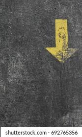 The White arrow on floor street background