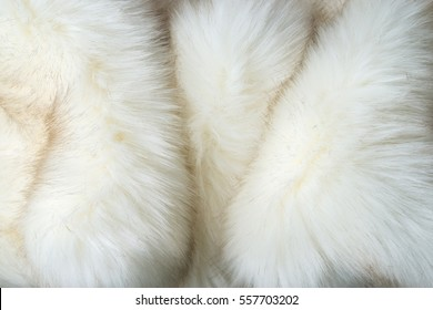 white artificial fur texture