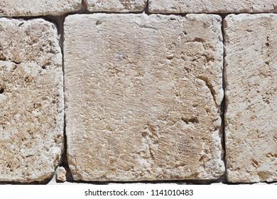 White ashlar limestone background