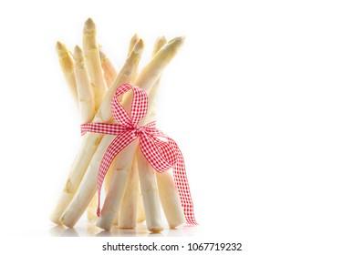 White asparagus, asparagus waist with Ribbon