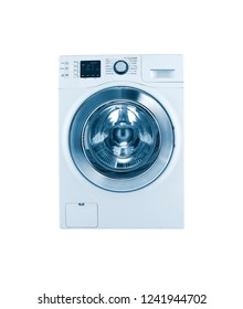white automatic washing machine