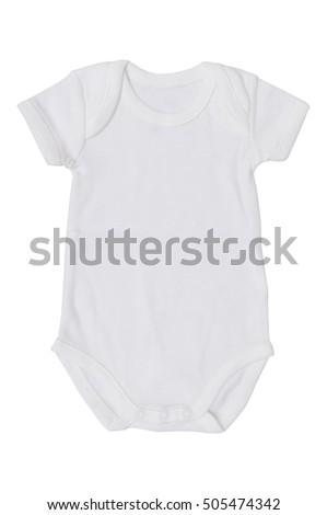 b0e01160906e White Baby Jumpsuit Isolate On White Stock Photo (Edit Now ...