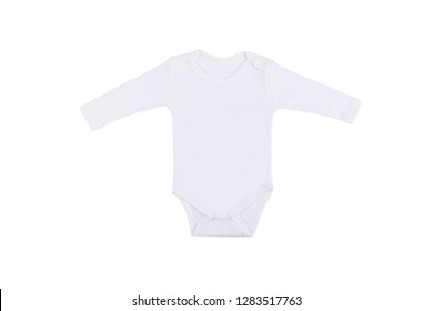 White baby onesie isolated over white background. Good for insert your design