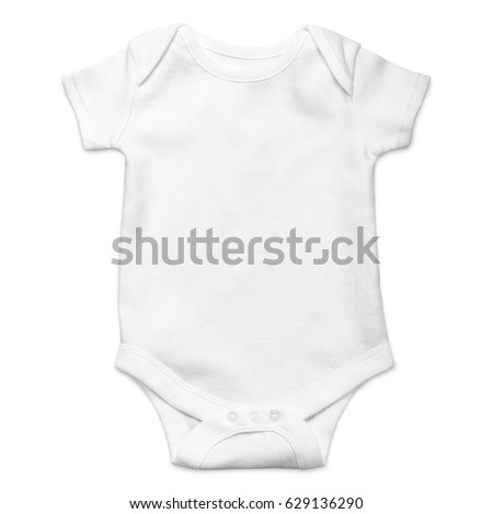 b944254841e2 White Baby Onesie Isolated Over White Stock Photo (Edit Now ...