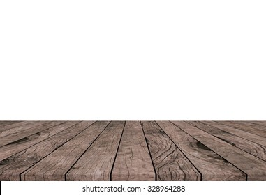 white backdrop with old vintage grungy beige brown wood background texture tabletop for show promotion products on display.