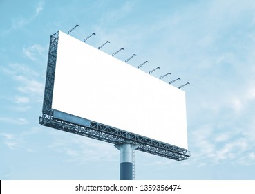 white background banner billboard outdoor on cloud and sky