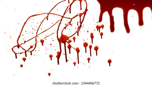 white background blood stock image
