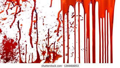 white background blood stock image
