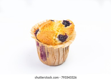 The white background of Blueberry Muffin