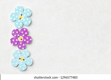 White background with children colored decorative flowers