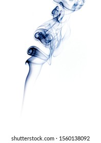White background with ink smoke plume