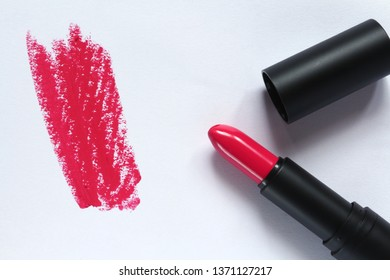 White background lipstick Pink