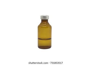 White background medicine bottle