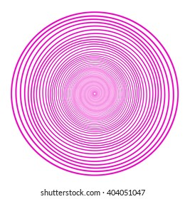 White background with pink patterns of circles