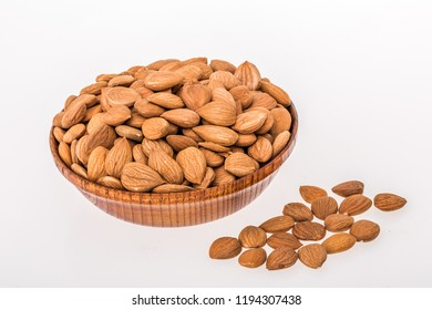 White background shed shot almond