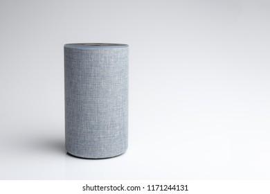 White background and smart speaker