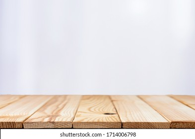 white background with the wood table