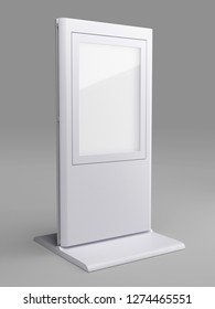 White Backlit 3D Display Stand Poster