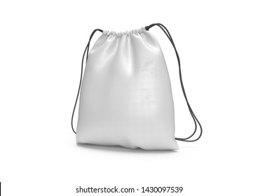 White Backpack bag mockup isolated 3D