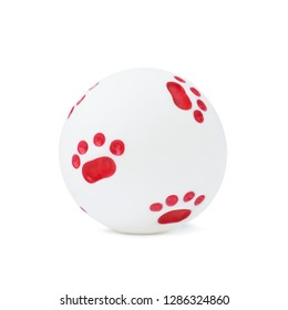 White ball on an isolated background, dog toy