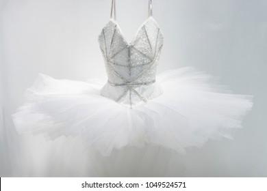 white Ballet Dress skirt isolated on white