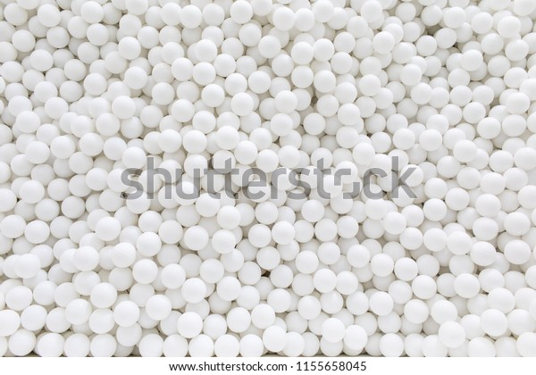 white balls background, room with a lot of white balls