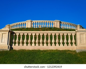 white balustrade and sky