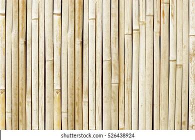White bamboo fence background.