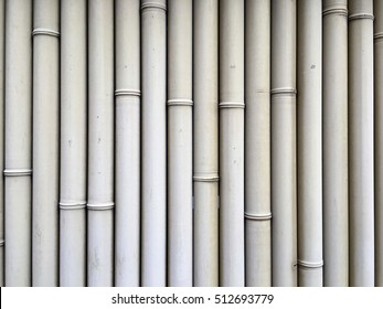 White bamboo wall. Bamboo background. Abstract background.