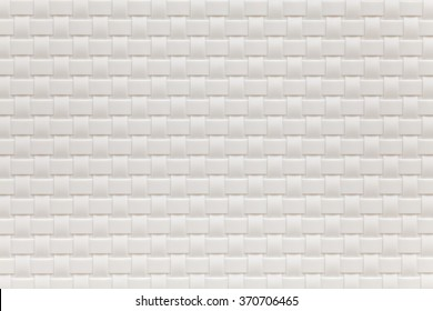 White bamboo weaving pattern texture and background seamless