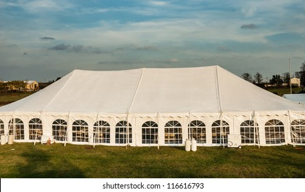White banquet wedding tent or party tent