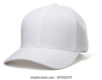 White Baseball Hat on White