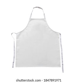 White Basic Bib kitchen Apron accessory, clothing and PVC Full white Apron for women protection ware isolated on white background. This has clipping path.