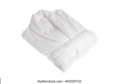 white bathrobe on white background