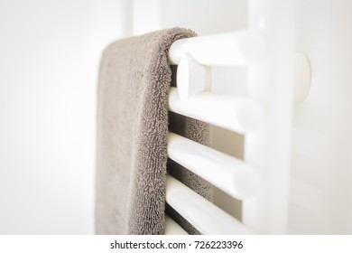 White Bathroom - Towel and Heating