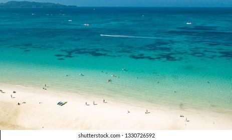 White Beach Boracay Island Philippines Tropical Paradise