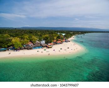 White Beach Moalboal in Cebu, Palawan, Philippines. Ocean Water and Beach.