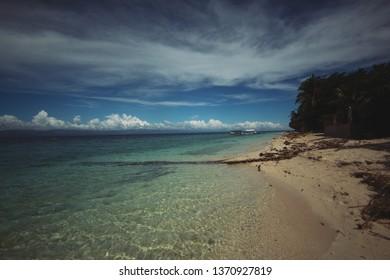 White beach in Moalboal, Cebu Philippines
