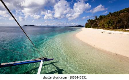 White beach on tropical sea