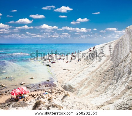 White beach. Scala dei Turchi on Sicily, Italy.