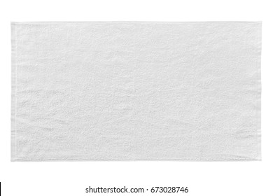 White beach towel isolated on white background